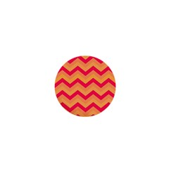 Chevron Peach 1  Mini Buttons by ImpressiveMoments