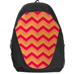 Chevron Peach Backpack Bag by ImpressiveMoments