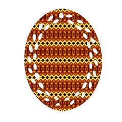 Cute Seamless Tile Pattern Gifts Ornament (oval Filigree)