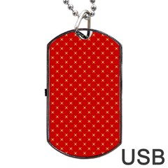 Cute Seamless Tile Pattern Gifts Dog Tag USB Flash (Two Sides)  by creativemom