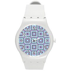 Cute Seamless Tile Pattern Gifts Round Plastic Sport Watch (m) by creativemom