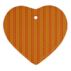 Cute Seamless Tile Pattern Gifts Heart Ornament (2 Sides) by creativemom