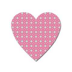 Cute Seamless Tile Pattern Gifts Heart Magnet by creativemom