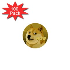Dogecoin 1  Mini Buttons (100 pack)  by dogestore