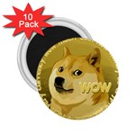 Dogecoin 2.25  Magnets (10 pack)