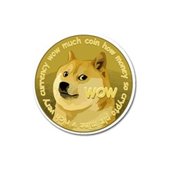 Dogecoin Magnet 3  (round) by dogestore