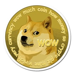 Dogecoin Magnet 5  (round) by dogestore