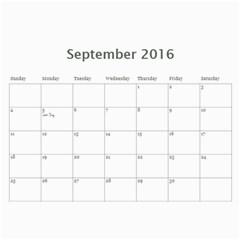 Jecca 2016 Calendar By Jessica Rudnitzki   Wall Calendar 11  X 8 5  (12 Months)   Si6qrupxz0od   Www Artscow Com Sep 2016