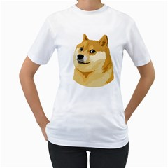 Dogecoin Women s T Shirt (white) (two Sided) by dogestore
