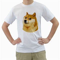 Dogecoin Men s T Shirt (white) (two Sided) by dogestore