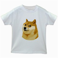 Dogecoin Kids White T Shirts by dogestore