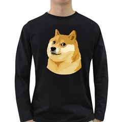 Dogecoin Long Sleeve Dark T Shirts by dogestore