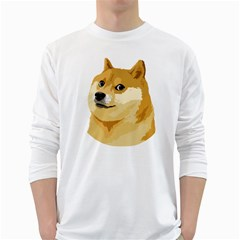 Dogecoin White Long Sleeve T Shirts by dogestore