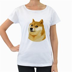 Dogecoin Women s Loose Fit T Shirt (white) by dogestore