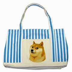 Dogecoin Striped Blue Tote Bag  by dogestore