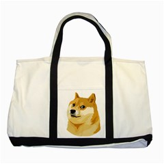 Dogecoin Two Tone Tote Bag  by dogestore