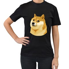 Dogecoin Women s T Shirt (black) by dogestore