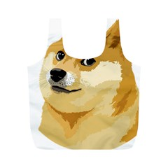 Dogecoin Full Print Recycle Bags (m)  by dogestore