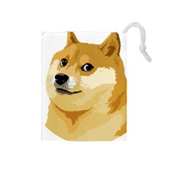 Dogecoin Drawstring Pouches (medium)  by dogestore