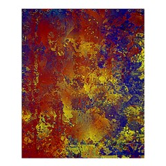 Abstract In Gold, Blue, And Red Shower Curtain 60  X 72  (medium)  by theunrulyartist