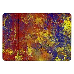 Abstract In Gold, Blue, And Red Samsung Galaxy Tab 8 9  P7300 Flip Case by digitaldivadesigns