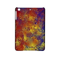 Abstract In Gold, Blue, And Red Ipad Mini 2 Hardshell Cases by digitaldivadesigns