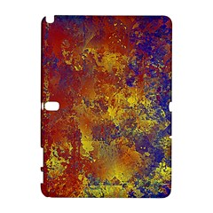 Abstract In Gold, Blue, And Red Samsung Galaxy Note 10 1 (p600) Hardshell Case by theunrulyartist