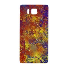 Abstract In Gold, Blue, And Red Samsung Galaxy Alpha Hardshell Back Case by digitaldivadesigns