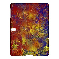 Abstract In Gold, Blue, And Red Samsung Galaxy Tab S (10 5 ) Hardshell Case  by digitaldivadesigns