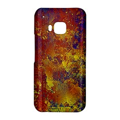 Abstract in Gold, Blue, and Red HTC One M9 Hardshell Case by theunrulyartist