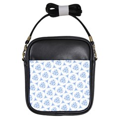 Sweet Doodle Pattern Blue Girls Sling Bags by ImpressiveMoments