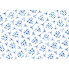 Sweet Doodle Pattern Blue Birthday Cake 3d Greeting Card (7x5)