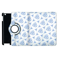 Sweet Doodle Pattern Blue Apple Ipad 2 Flip 360 Case by ImpressiveMoments
