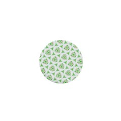 Sweet Doodle Pattern Green 1  Mini Buttons by ImpressiveMoments
