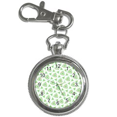 Sweet Doodle Pattern Green Key Chain Watches by ImpressiveMoments
