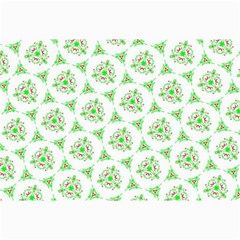 Sweet Doodle Pattern Green Collage 12  X 18  by ImpressiveMoments
