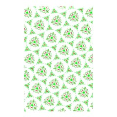 Sweet Doodle Pattern Green Shower Curtain 48  X 72  (small)  by ImpressiveMoments