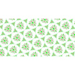 Sweet Doodle Pattern Green You Are Invited 3d Greeting Card (8x4)