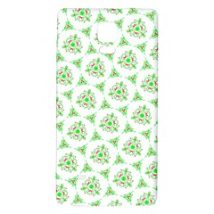 Sweet Doodle Pattern Green Galaxy Note 4 Back Case by ImpressiveMoments