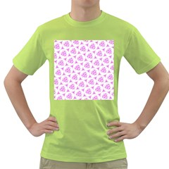 Sweet Doodle Pattern Pink Green T Shirt by ImpressiveMoments
