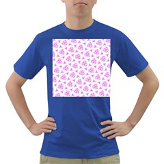 Sweet Doodle Pattern Pink Dark T Shirt by ImpressiveMoments