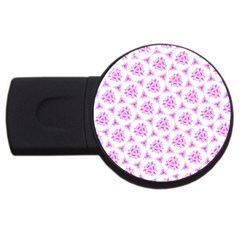 Sweet Doodle Pattern Pink Usb Flash Drive Round (4 Gb)  by ImpressiveMoments