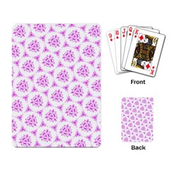 Sweet Doodle Pattern Pink Playing Card by ImpressiveMoments