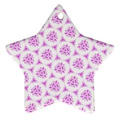 Sweet Doodle Pattern Pink Star Ornament (two Sides)  by ImpressiveMoments