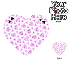 Sweet Doodle Pattern Pink Playing Cards 54 (heart)  by ImpressiveMoments