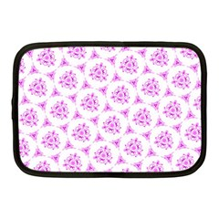 Sweet Doodle Pattern Pink Netbook Case (medium)  by ImpressiveMoments