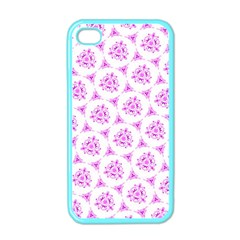 Sweet Doodle Pattern Pink Apple Iphone 4 Case (color) by ImpressiveMoments