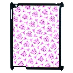 Sweet Doodle Pattern Pink Apple Ipad 2 Case (black) by ImpressiveMoments