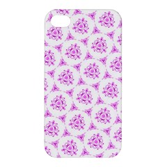 Sweet Doodle Pattern Pink Apple Iphone 4/4s Premium Hardshell Case by ImpressiveMoments