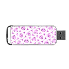 Sweet Doodle Pattern Pink Portable Usb Flash (one Side) by ImpressiveMoments